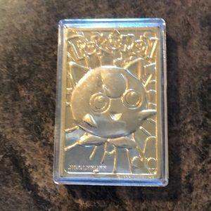 Vintage Pokémon Jigglypuff gold plated card